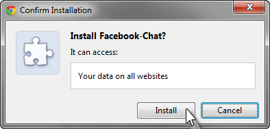 Facebook chat script installed