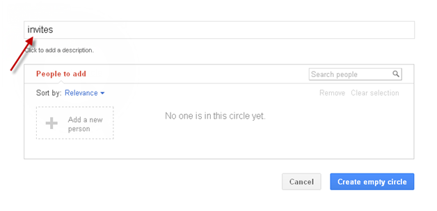 Creating Circle in Google plus