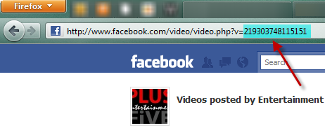 Facebook video url
