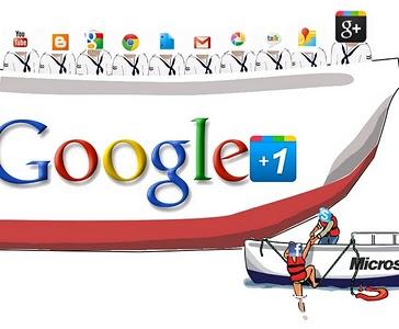 Google Plus and microsoft