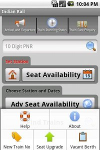 indian rail info for android