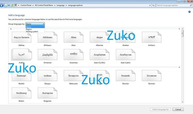 Windows 8 Language Explorer