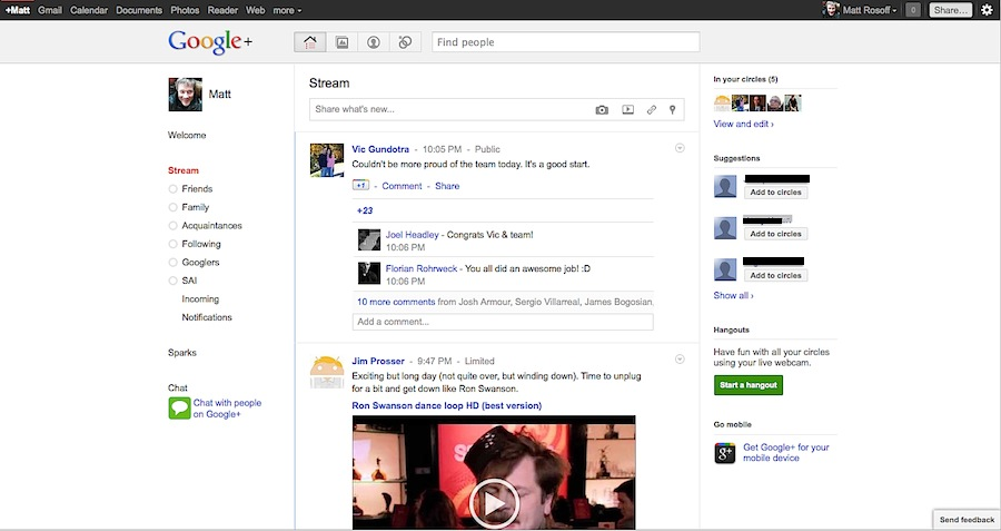 Google+ Google Plus Stream