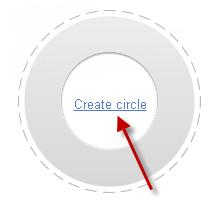 Create Circle in google plus