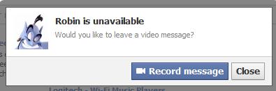 Facebook Record message