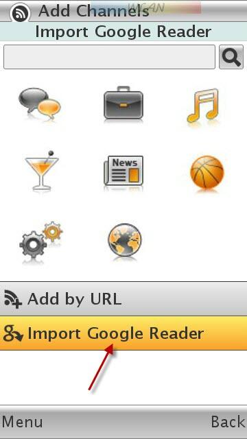Import Google Reader