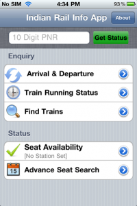 indian rail info for iphone